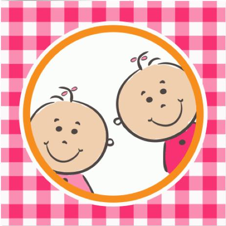 geboortekaartje tweeling meisje van Kaartje2go