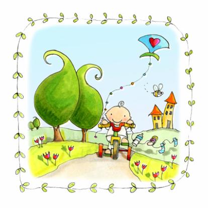 geboortekaart-vlieger-anet-illustraties