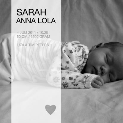 geboortekaartje---foto-zwart-wit