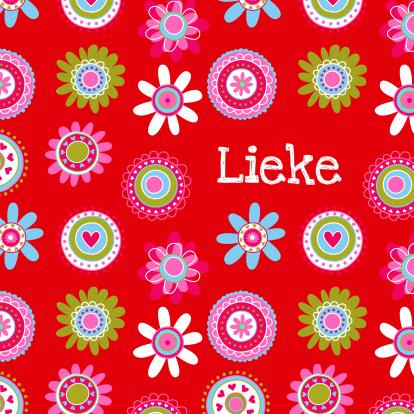 hip-geboortekaartje-bloemen-lieke-rood