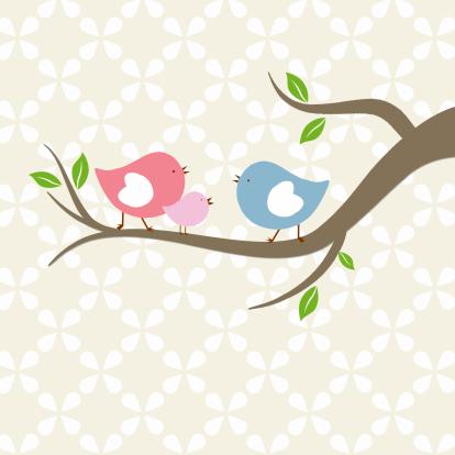 vogeltjes-met-baby-vogel-roze